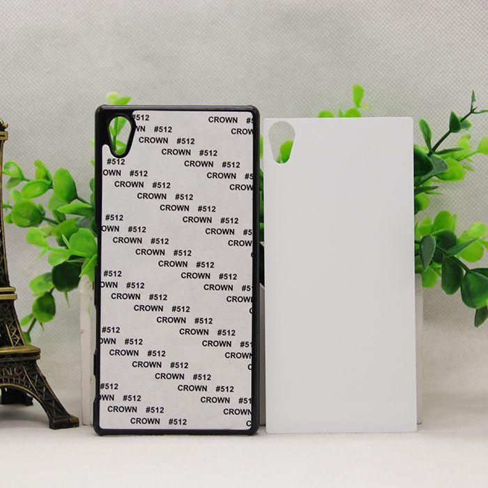 Venta al por mayor VIVIENDA Sony con Z5 Atrás Teléfono Duro Casos de sublimación Diseño Z3 PC Inserto de metal en blanco DIY 2D para cubiertas VDWKM
