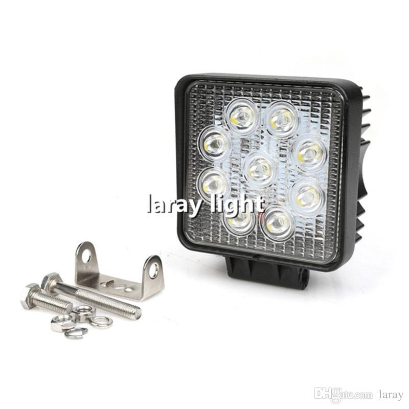 27W عالية الطاقة سيارة الطرق الوعرة الصمام ضوء العمل قبالة الطريق مصباح العمل LED مع المصابيح حبة 9X 3W لشاحنة جيب مركبة قارب