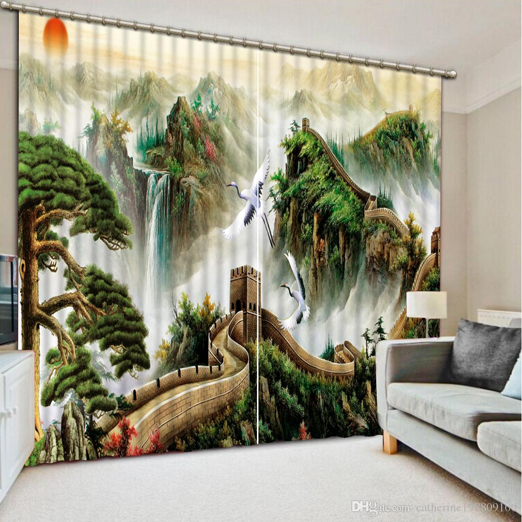 . 2019 Luxury European Modern Nature Scenery Custom Curtain Fashion Decor  Home Decoration For Bedroom From Catherine198809100   321 61   DHgate Com