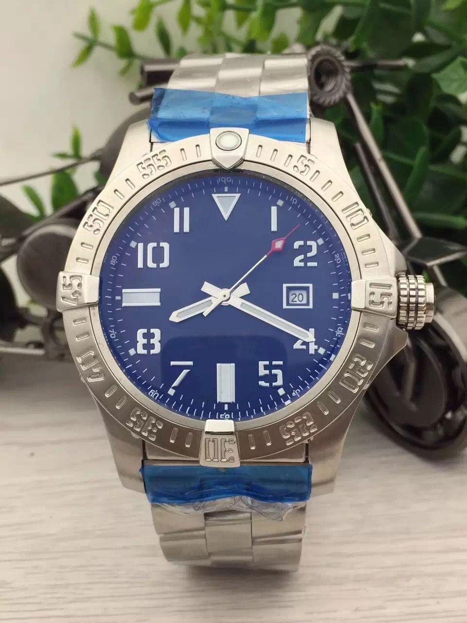 핫 스토어 판매 새로운 시계 남자 블랙 다이얼 스테인레스 밴드 시계 콜트 자동 시계 망 드레스 시계