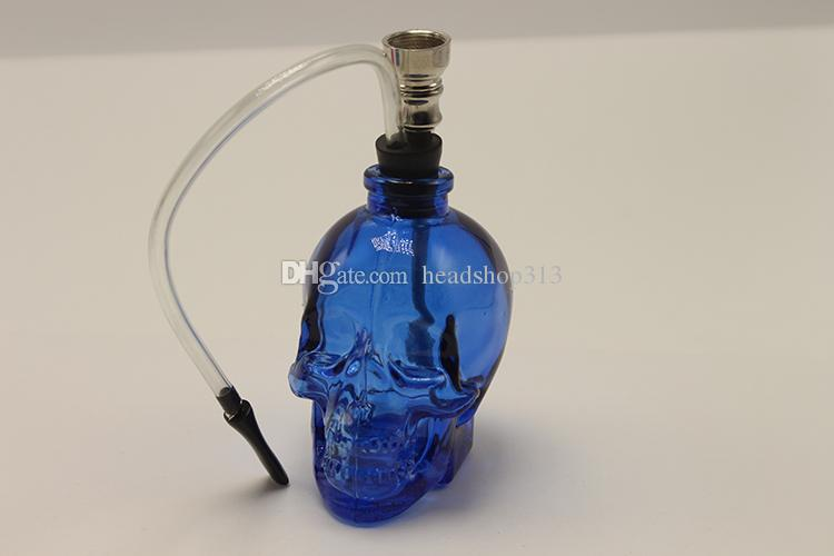 DHL Free Glass Water Pipe Hookah Smoking Tobacco Pipes Filter Punk Ghost Head Skull Shaped Hookah Portable Fashion Best Gifts