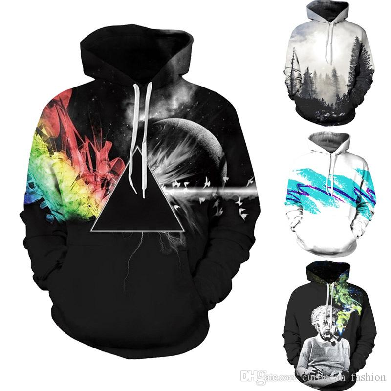 vetements hoodie brand tracksuit men sweatshirt Geometric hooded Printed Hoodies Casual Long Sleeve Hoodie winter coat 3d sweatshirts