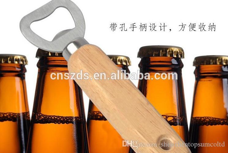 Gepersonaliseerde houten bierflesopener / aangepaste gegraveerde en monogram / bruiloft groomsmen gift