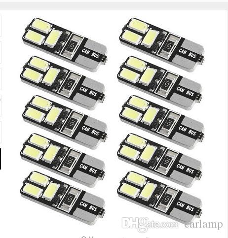 100X T10 6SMD 4SMD 5730 Canbus Error Free Car Tail Turn Bulbs Light 210LM Light Bulb No error wholesale