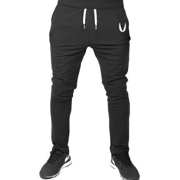 Men Sports Gym Casual Elastic Pants Mens Fitness Workout Skinny Pants Sweatpants Jogger Pants