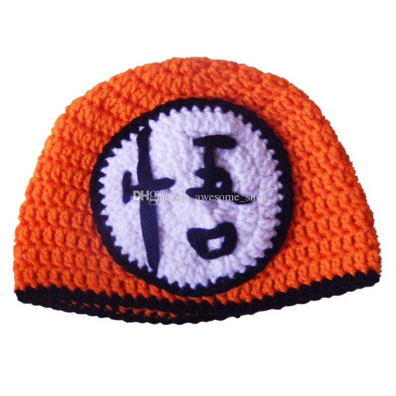 Novetly Character Hat,Handmade Knit Crochet Baby Boy Girl Orange Dragon Ball Z Hat,Son Gohan Beanie,Infant Toddler Photo Props
