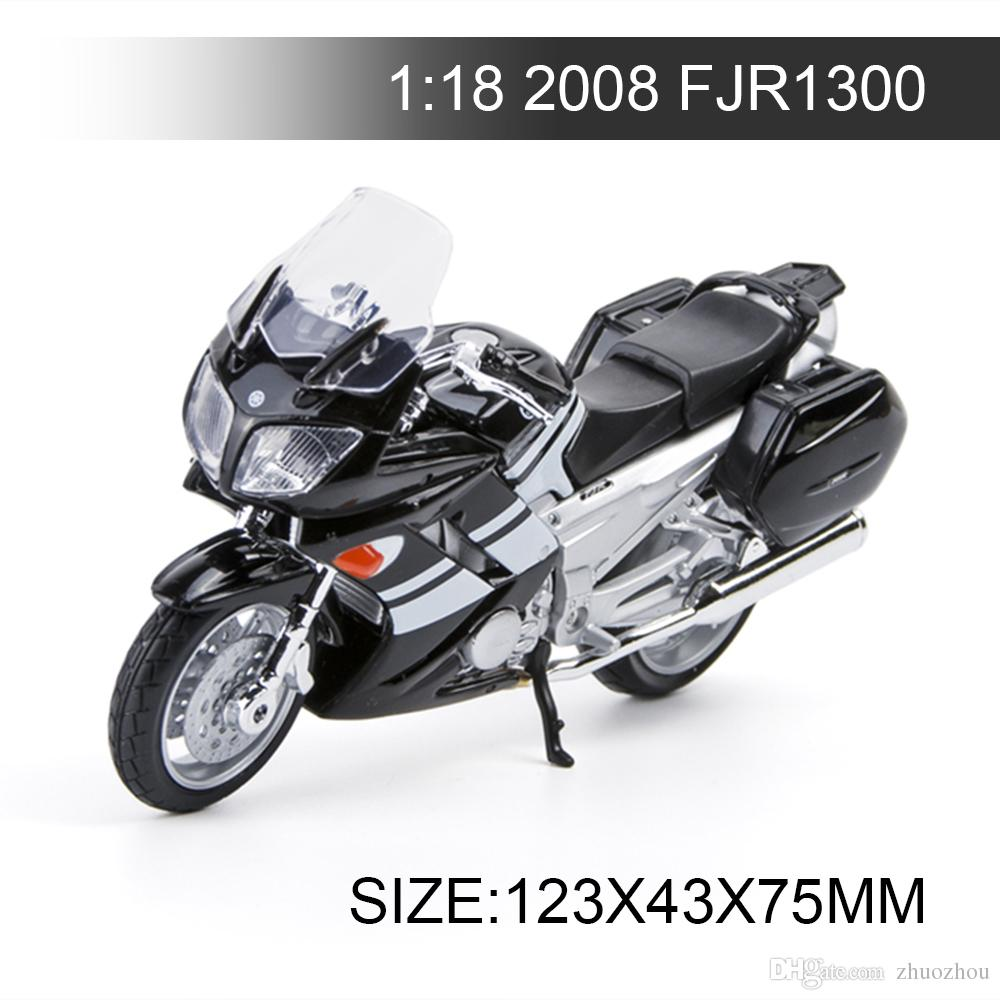YMH Motorcycle 2006 FJR 1300 1:18 Metal Diecast Models Motor Bike Miniature Race Toy For Gift Collection