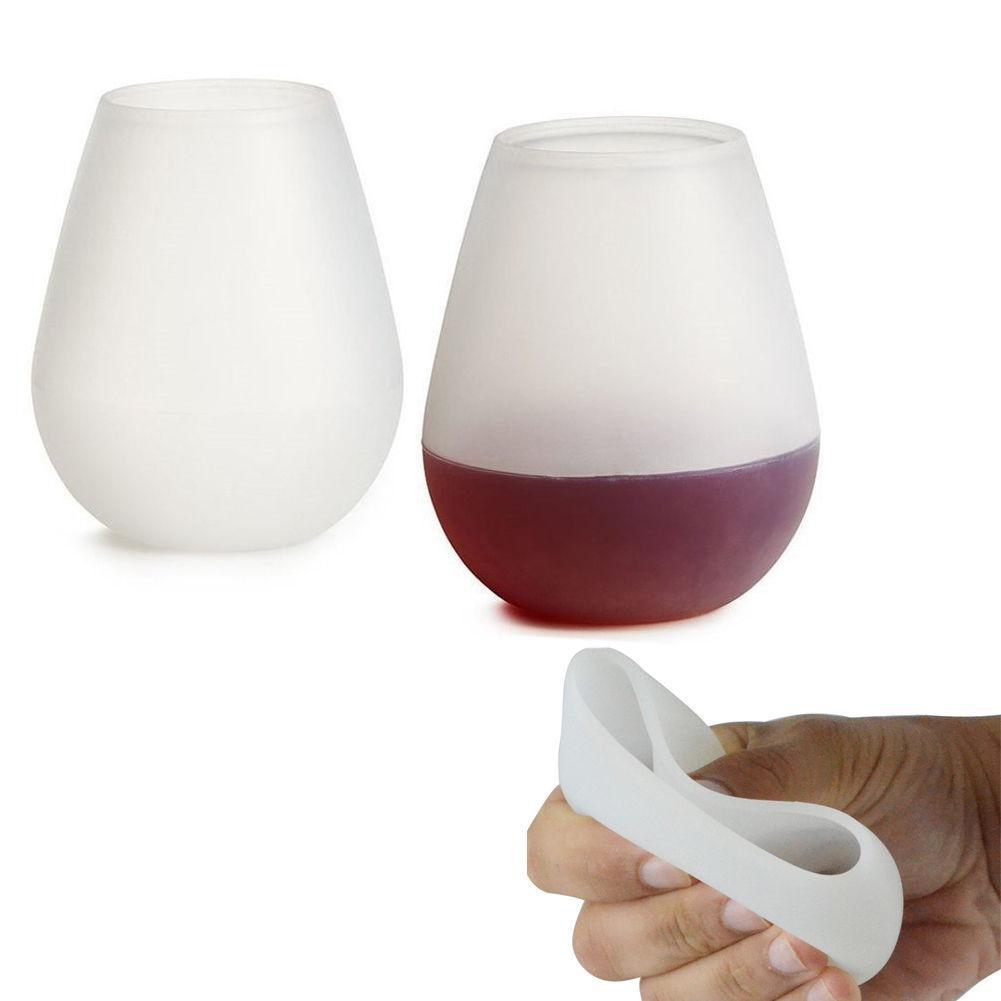 Tazza di vino in silicone Pieghevole Birra Whisky Tazza infrangibile Camping Party Cup 6 Opzione colore mai rotto Portatile