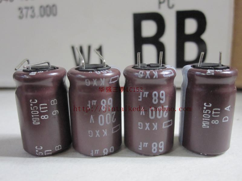 30PCS Japon NIPPON électrolytique condensateur 200V68UF 12.5X20 KXG série de basse fréquence haute fréquence longue durée livraison gratuite