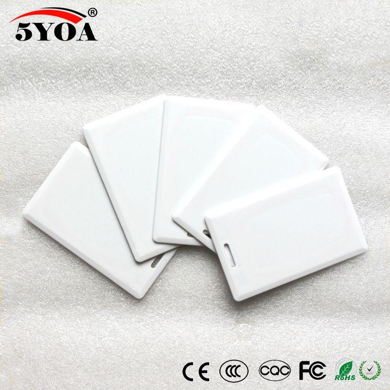 5YOA EM4305 T5577 125khz Card Portafogli ID EM spessi RFID Portachiavi Tag Chiave di prossimità per sistema di controllo accessi