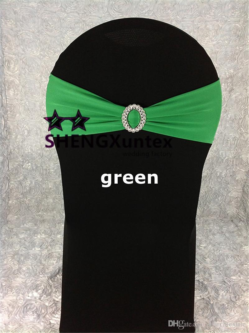 Couleur verte Lycra Spandex Chaise Bande Avec Boucle Utilisé Sur Mariage Spandex Chaise Couverture Livraison Gratuite