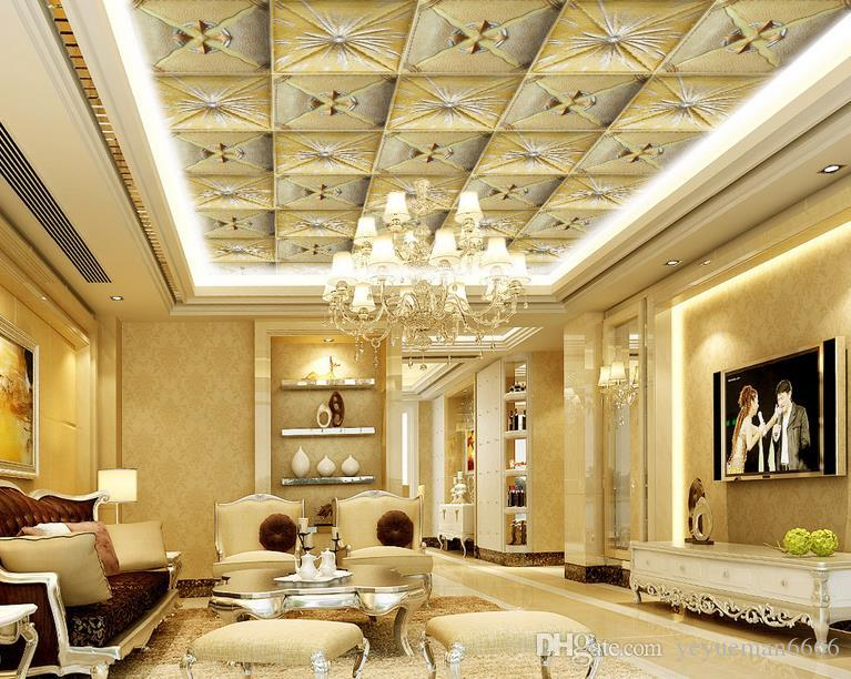 3d Ceiling Murals Wallpaper Customize Wallpaper For Walls 3 D Ceiling Photo Wall Mural Leather Pattern Leather Soft Bag Ceiling Wall Paper Wallpaper