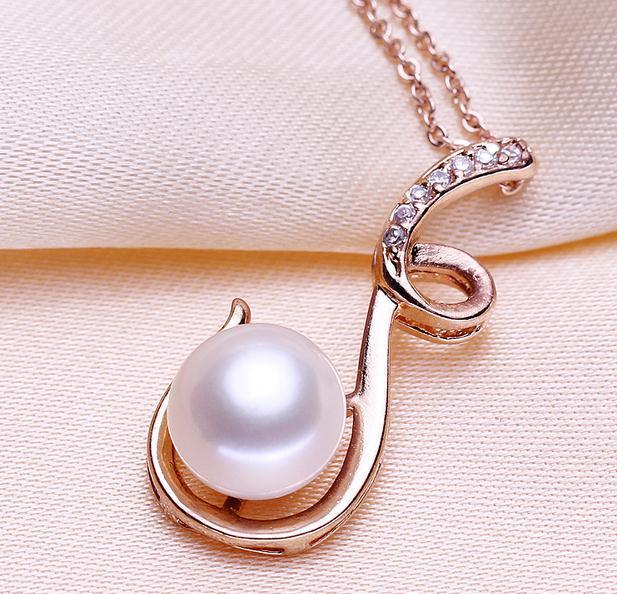 Collar pendiente DZ0159 de la perla natural oblata femenina 10-11m m de la venta caliente