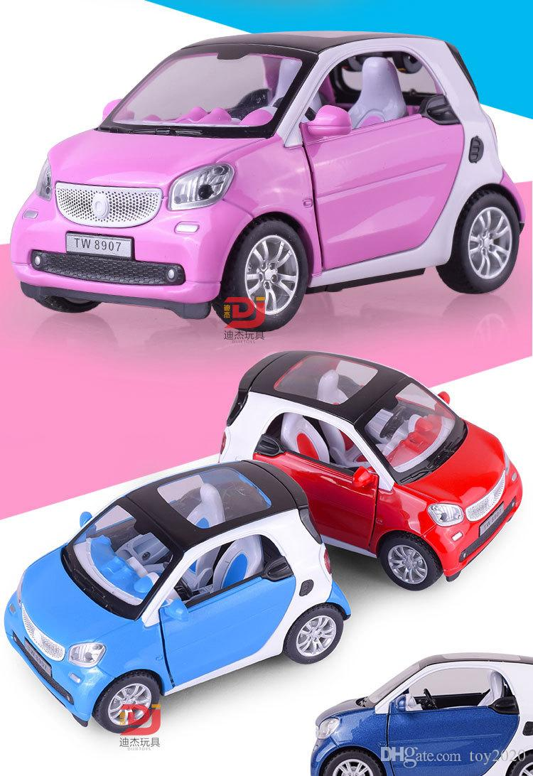 1 24 Smart Fortwo Pull Back Car Model Original Alloy Car Models  # Modele Banc En Bois