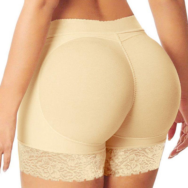 Wholesale-  Pants Sexy Boyshort Panties Woman Fake Ass Underwear Push Up Padded Panties Buttock Shaper Butt Lifter Hip Enhancer