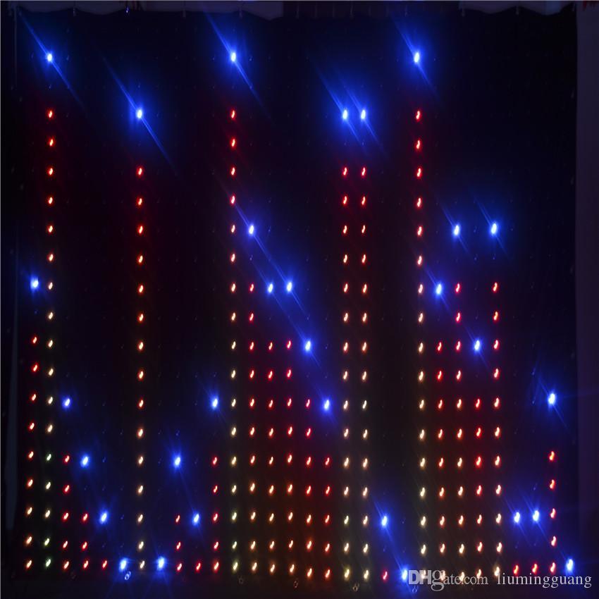 P9 3M*4M LED Video Curtain Star Cloth Matrix LED Backdrop Wedding Stage DJ Pub DMX Control