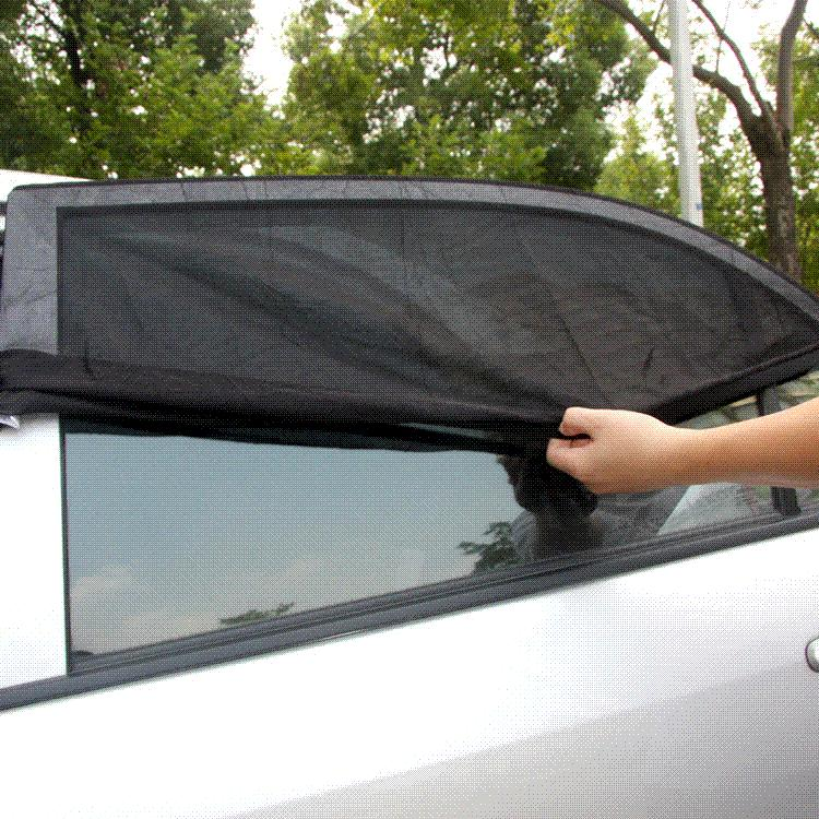 TIROL T11724-L 2PC New Mesh UV Protection Car Window Rear Door\Side Sun Shades Outdoor Travel Baby Size L 113*51cm Free Shipping