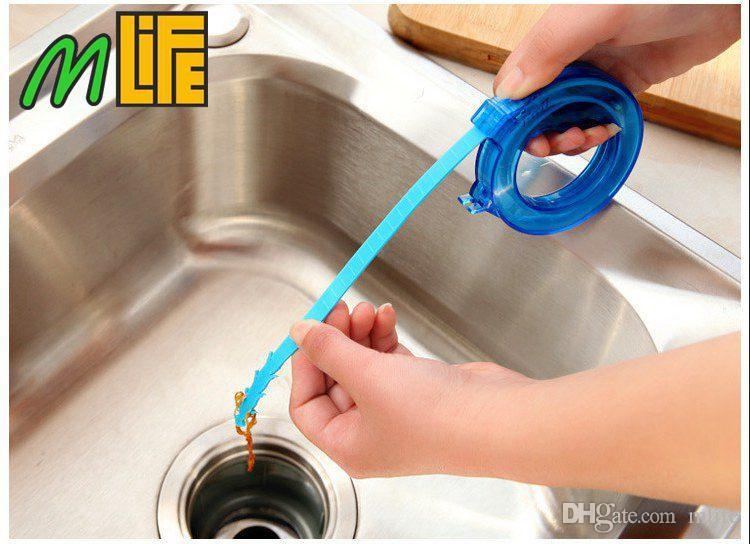 Casa Escovas De Limpeza Ferramentas Acessórios Escova De Dreno Mais Limpo Do Banheiro Unclog Sink Tub Serpente Escova De Remoção De Cabelo Ferramenta De Limpeza