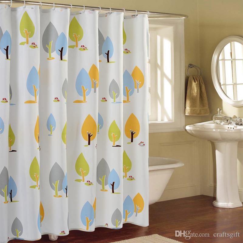 Printed Polyester Waterproof Shower Curtain Household Creative Shower Curtain#C9