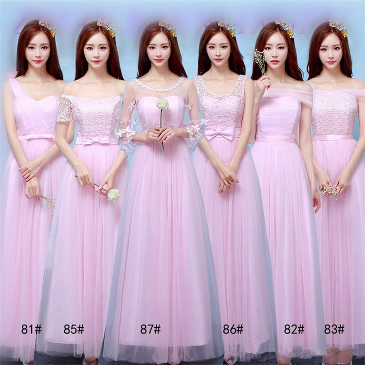 2018 New Long Bridesmaid Dresses Women Wedding Prom Party Cocktail Elegant Evening Gowns Beautiful Formal Celebrity Dresses Long Bridesmaid Dresses