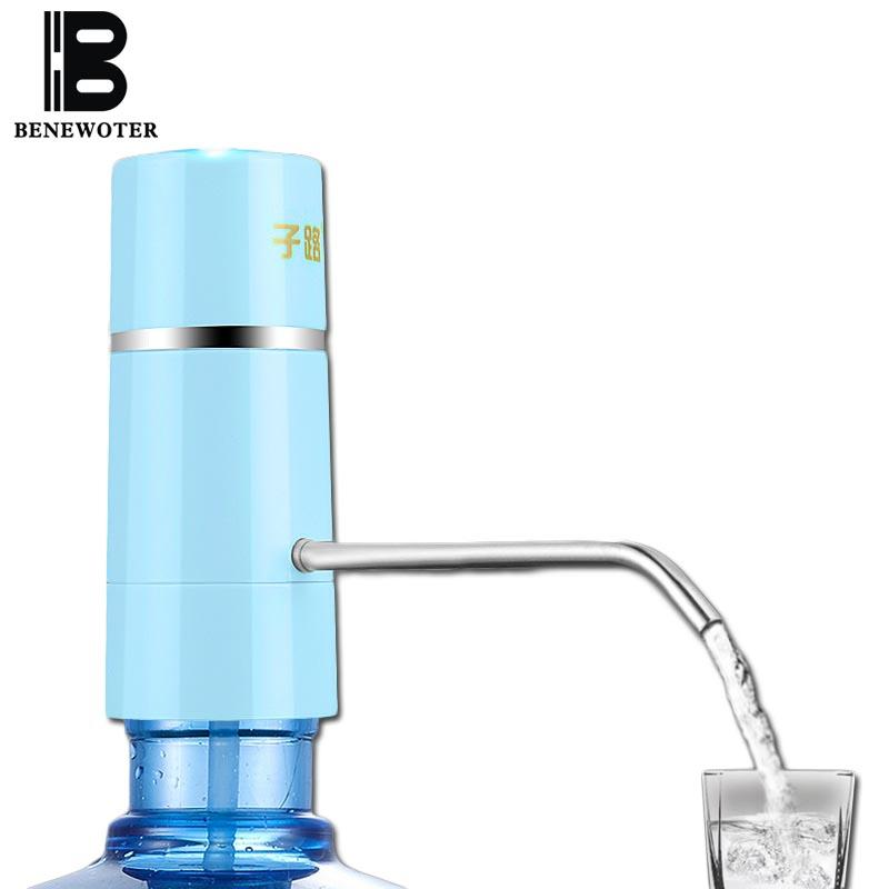 Wholesale- Easy Pump Water Tap Faucet Wireless Electric Rechargeable Water Dispenser Battery Drinking Water Bottles Kitchen Drinkware Tool