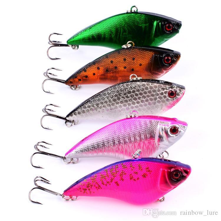 Renkli Likelife BALıK şekli VIB Yem 17g 7.5 cm Sert Plastik balıkçılık cazibesi 6 renk Balıkçılık mücadele