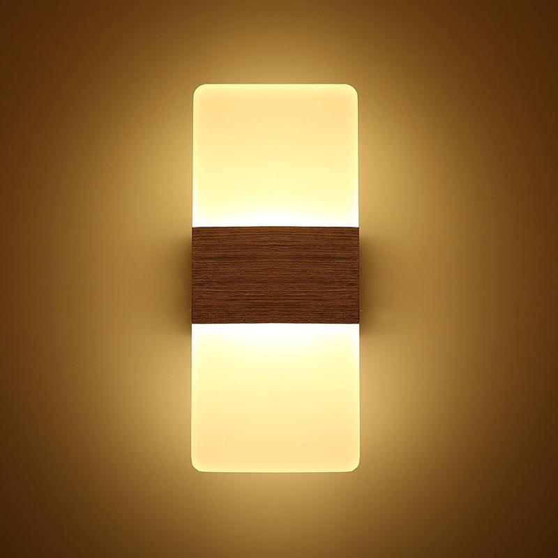 2 PC Moderno Acrílico 12 W LED Arandelas de Parede de Alumínio Luminária Para Cima e Para Baixo Luz Decorativa Lâmpada Night Light para o Caminho, Escada, quarto