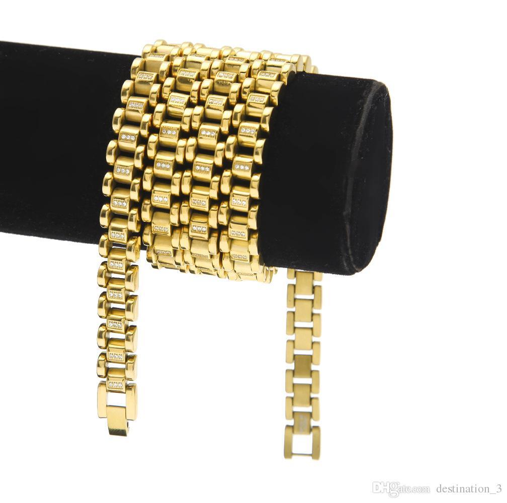 Hip Hop Kupfer Vergoldet Kette Halskette Hohe Qualität 30 zoll Gold Schmuck Männer Schmuck Männer Halskette Kupfer Kette