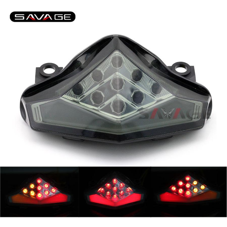 For KAWASAKI ER-6N ER-6F NINJA 650R 2012 2013 2014 2015 Motorcycle Integrated LED Tail Light Turn signal Blinker Lamp Smoke