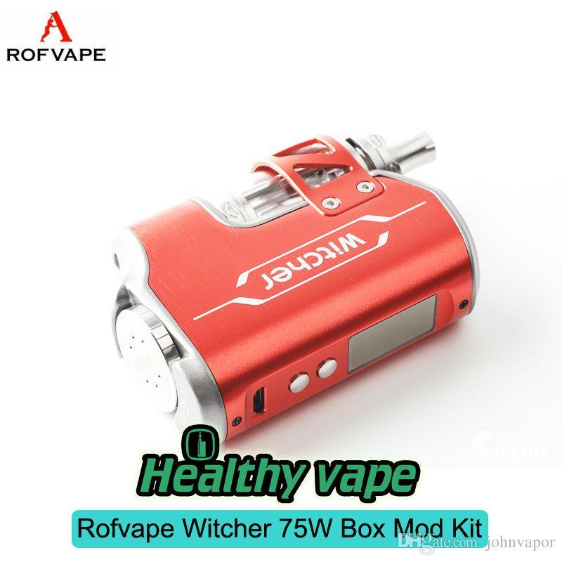 Original ROFVAPE Witcher 75W TC BOX MOD With Witcher Tank Kit With  Submerged 5 5ML Atomizer Vapour Starter Kit Vapour Starter Kits From  Johnvapor,