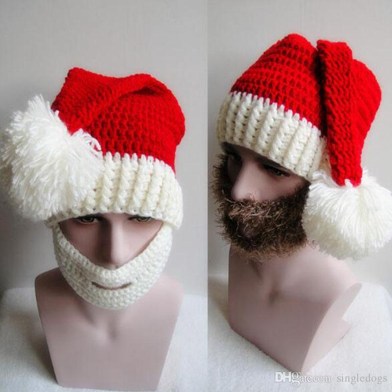 Zimowa dzianiny kapelusz mody Bożenarodzeniowi kapelusze z wąsy czapki kapelusz ciepłą jesień i zima kobiety mężczyzna czaszki czapki