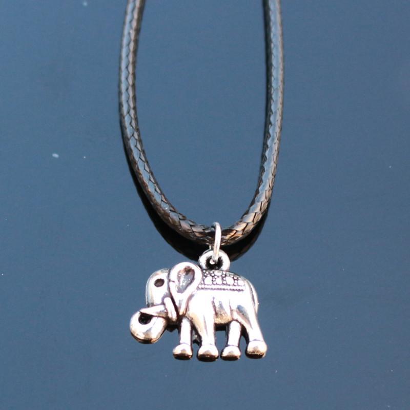 Wholesale-N795 محظوظ الفيل قلادة القلائد بيجو collares للنساء الرجال الشرير الحيوان قلادة الأزياء والمجوهرات جديد