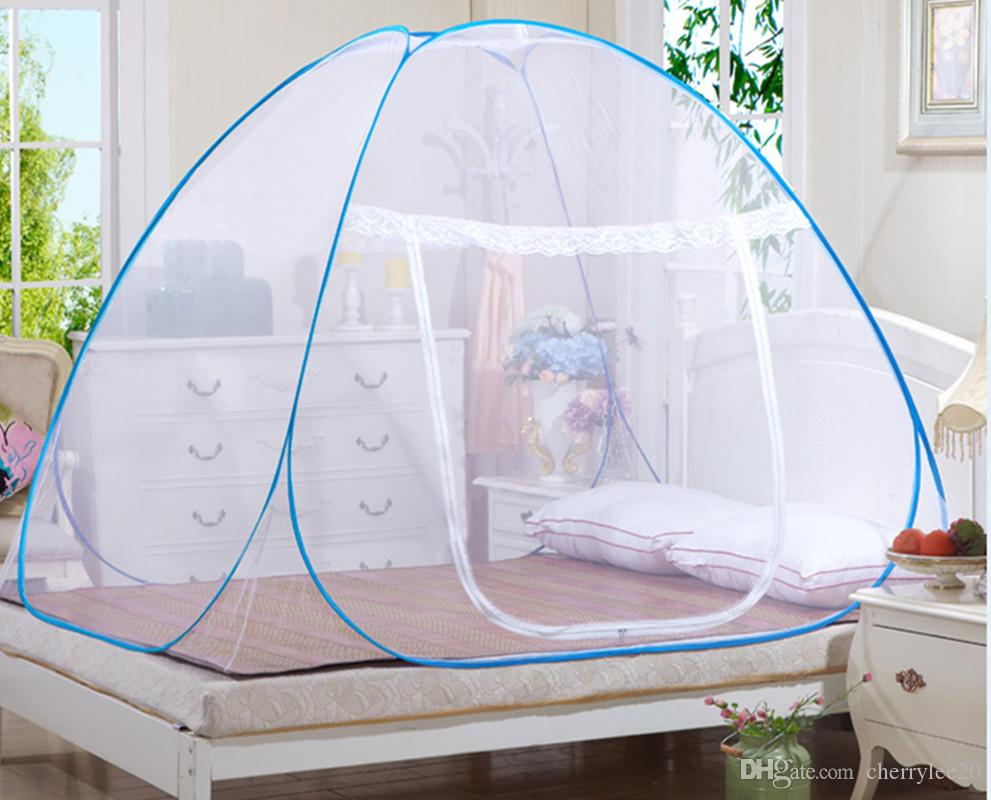 ... Portable Folding Pop Up Mosquito Net Bed Canopy Curtains Travel C&ing Tent 1/2 Openings & Portable Folding Pop Up Mosquito Net Bed Canopy Curtains Travel ...