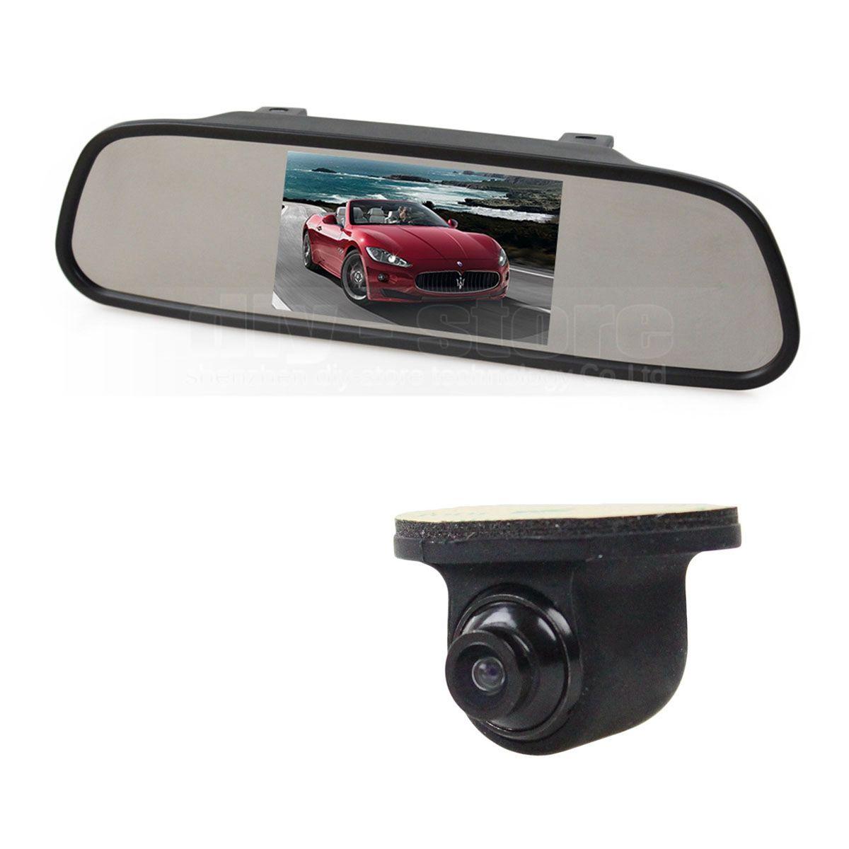 5inch TFT LCD Display Car Monitor Rear View Mirror Monitor + CCD Backup Rear / Front / Side View Camera Cam