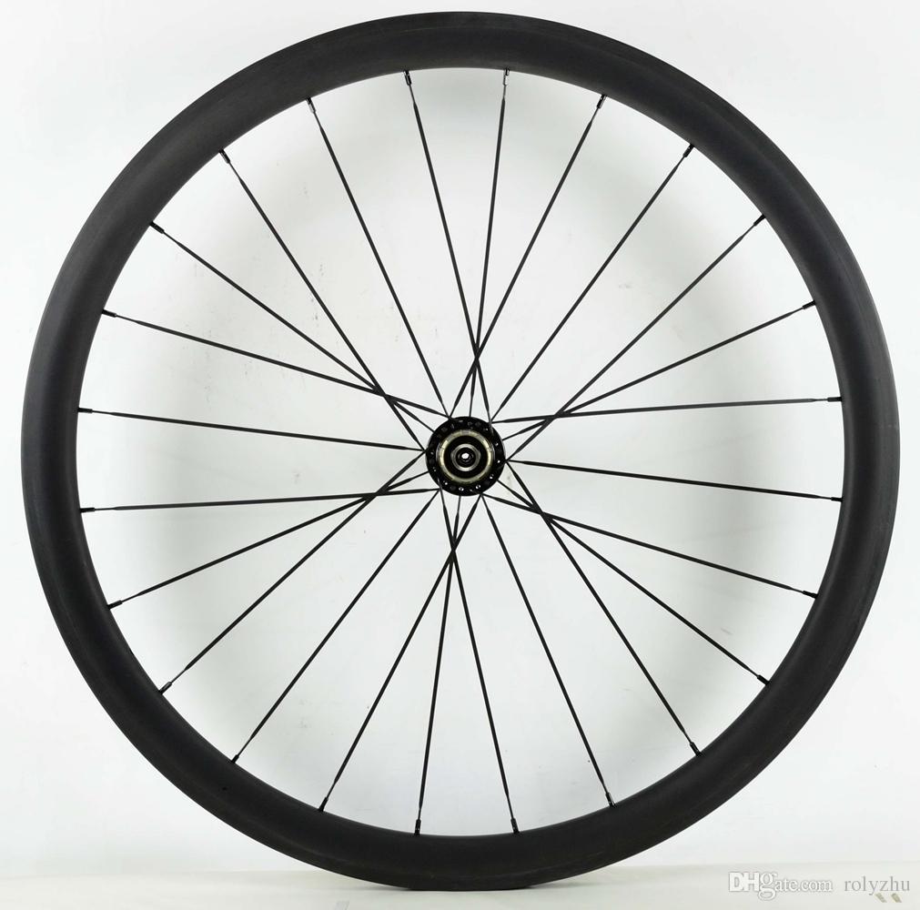 Spedizione gratuita 38mm profondità bici da strada wheelset 700C 23mm larghezza copertoncino bicicletta / tubolare ruota in carbonio con powerwayR36 mozzo a forma di U orlo