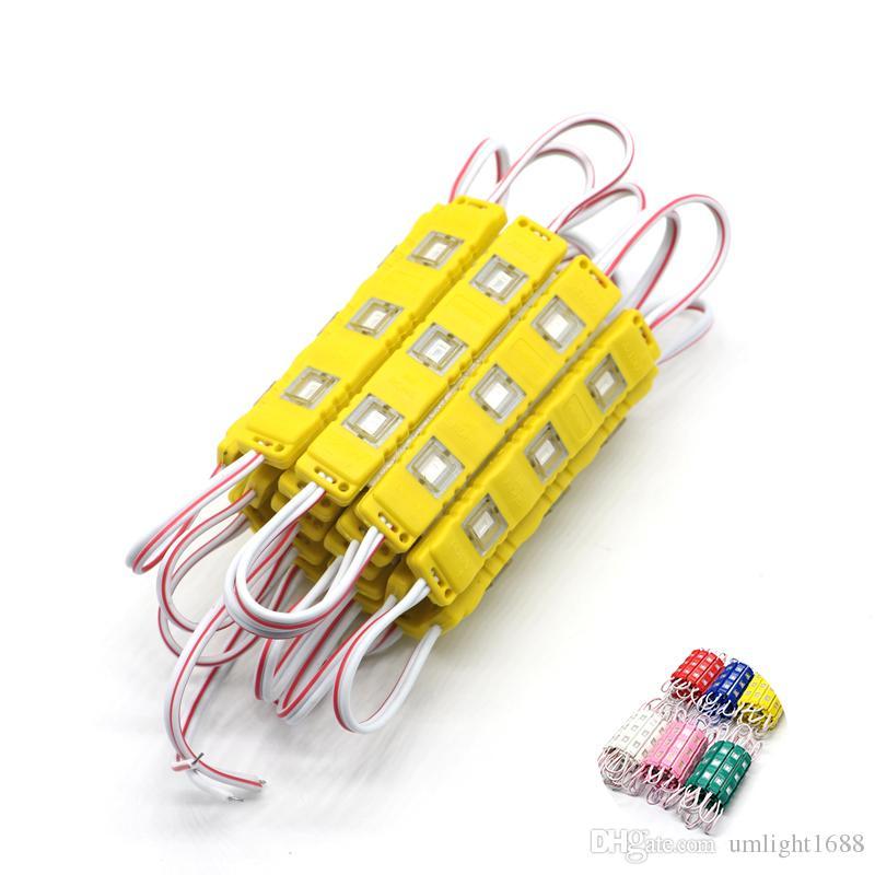 2000шт 5730 3 LED инъекции + объектив формовочный модуль водонепроницаемый теплый белый чистый белый красный / зеленый / синий/желтый свет для DC 12V