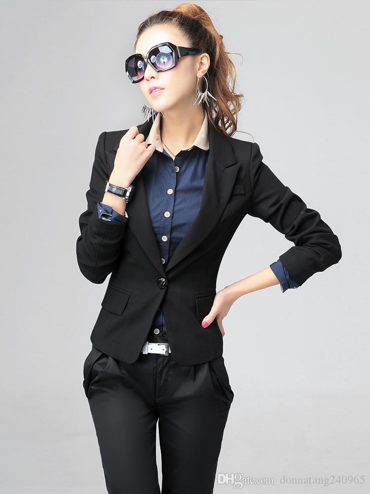 Dünne Kurze Donnatang240965 Long Mode Button Damen Jacke Blazer Plus Von 6xl Großhandel Ol Sleeve Single Wear Women Größe Office Fat qMVGpUzS
