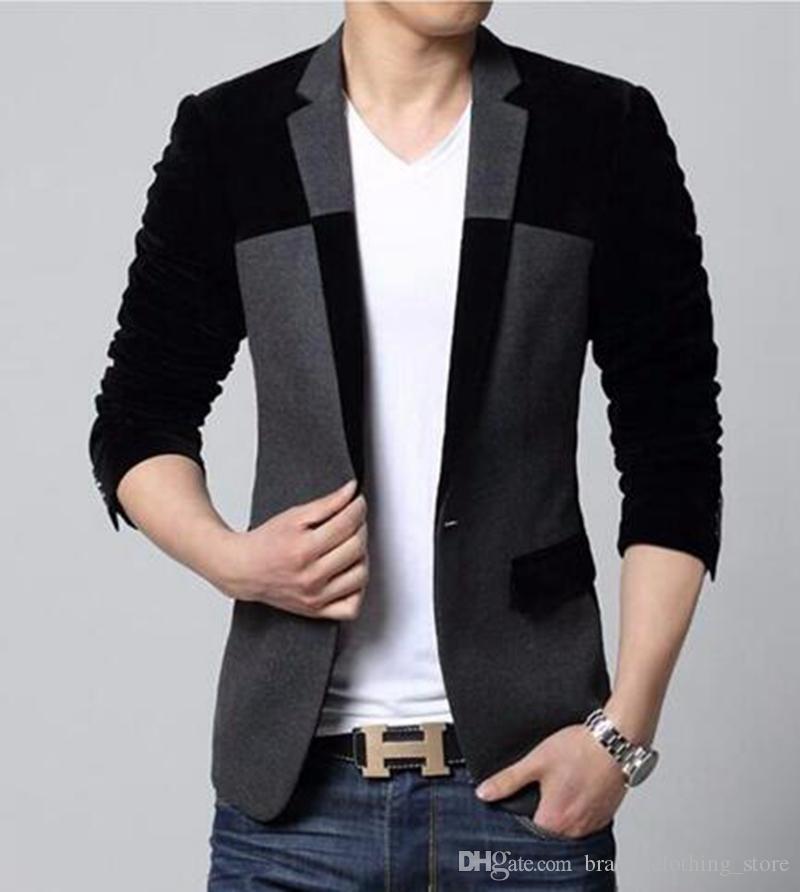 유럽과 레저 비즈니스 영어 새로운 패션 부티크 성격의 남자는 작은 정장 캐시미어 코트 / M-5XL을 싱글