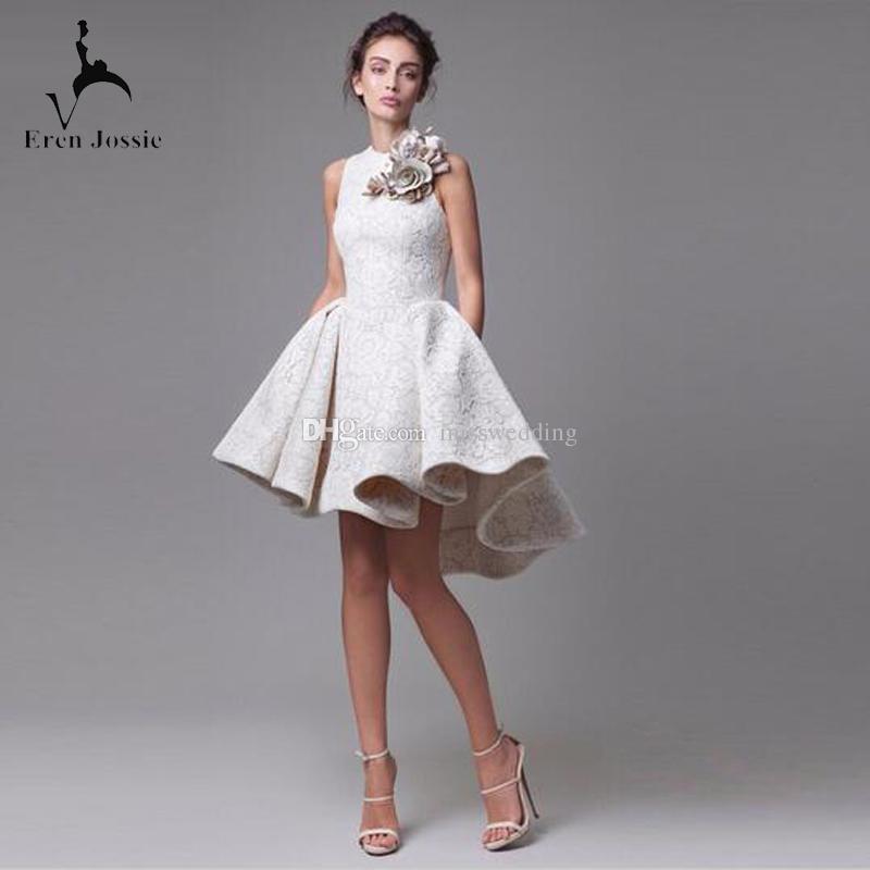 2019 новое поступление кружева асимметричные вечерние платья короткая длина цветок ручной работы современный бальное платье европейский дизайн