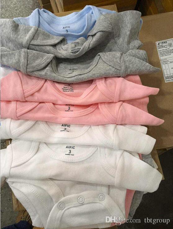 AIFIC Bebek Bebek Rompers Suit Üçgen Romper Onesies% 100 pamuk Kısa 4 renk bebekler giysi oğlan kız kollu