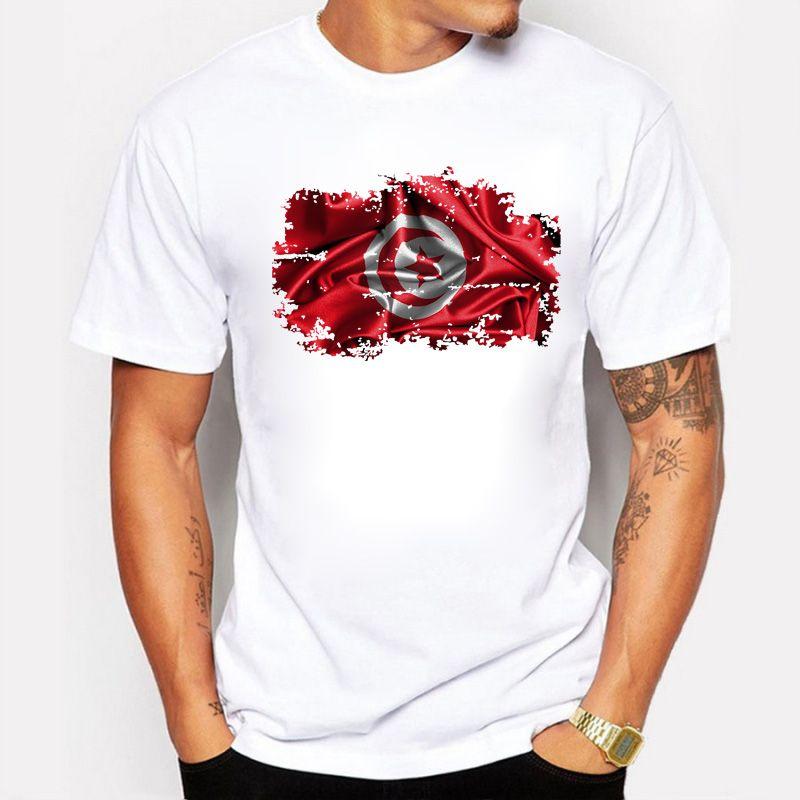 T-shirt 3D Tunisia Flag per uomo Estate Cool Top manica corta Casual Uomo T-Shirt Confortevole Tunisia Patriot Tees