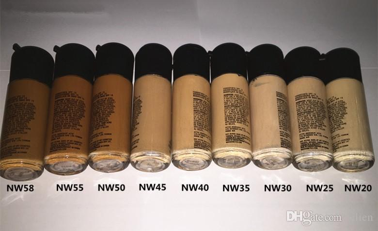 Wholesale-Make up Foundation 18 colors Mineral moisturizing liquid foundation New Concealer makeup Spf 15 Free Shipping