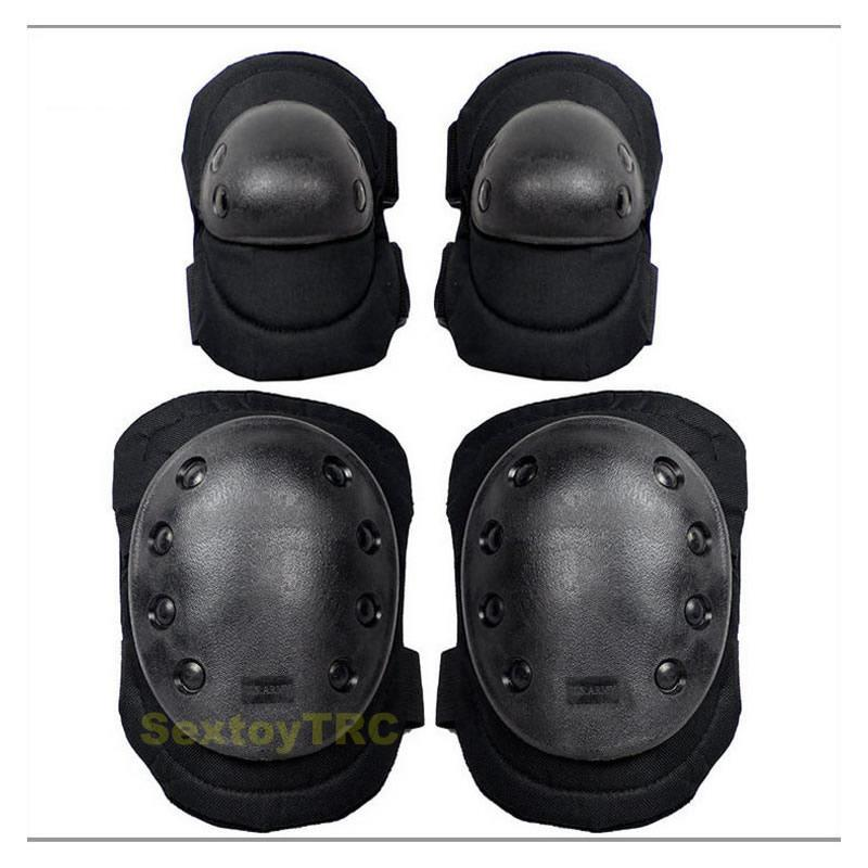 Knee Pads Elbow Protection Kit for BDSM Plays Bondage Gear for Long Time Crawling Slave Costume Fetish Sexual Accessory