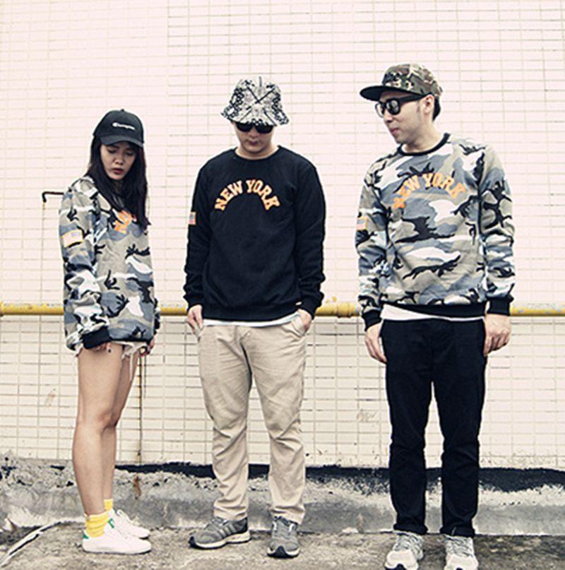 New York Camouflage Sweatshirt Men USA Flag Medal Hip Hop Streetwear Hoodie Men Women Military Army sudaderas hombre tracksuit