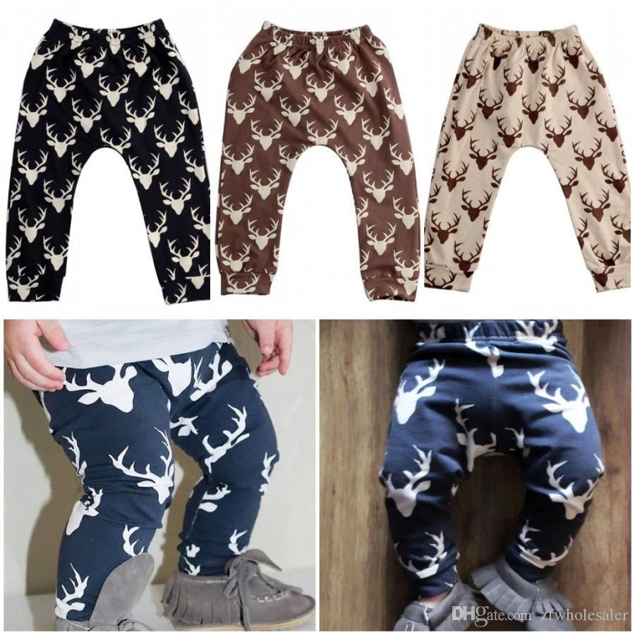 Jogger Pants for Men Leisure Plaid Christmas Reindeer Cotton Long Sweatpants for Youth