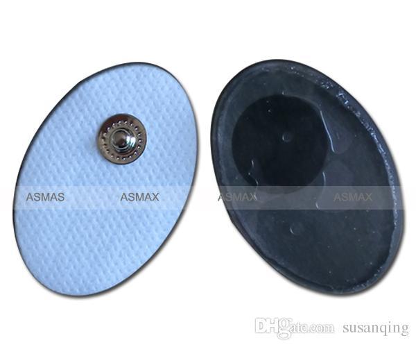 Snap botton Verbindung Kleine ovale Tens Elektrodenpads für Rücken- und Schultermassage zur Entspannung von Körper und Geist