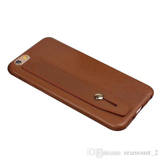 Cassa di cuoio dell'unità di elaborazione di alta classe di affari all'ingrosso di alta qualità per il caso del basamento del telefono cellulare della copertura del telefono di iPhone 7 7 più