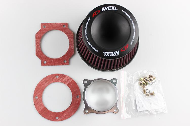 """Universal APEXI Power Intake Dual Funnel Air Filter Cleaner Flange 75mm 3/"""" US"""