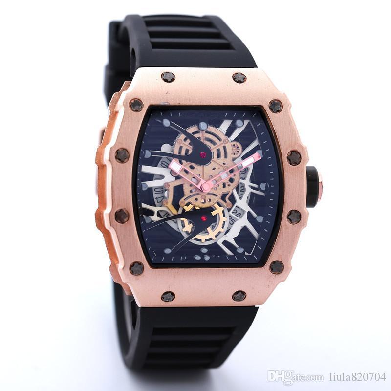 New watch Skull sport Watches men Casual Fashion Skeleton quartz watch free shippingMontre Homme SPROT WATCH