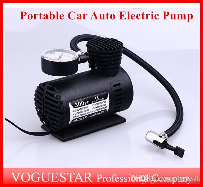 자동 전기 펌프 공기 압축기 미니 12V 자동차 자동 휴대용 펌프 타이어 팽창기 펌프 도구 300PSI ATP019